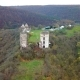 A Bird's Eye View of the Ruins of the Chervonohorod Castle and the Ruined Church Ukraine - VideoHive Item for Sale
