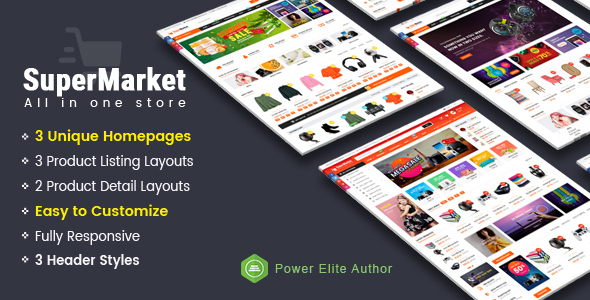 Supermarket - Responsive MultiPurpose HTML 5 Template (Mobile Layouts Included) - Retail Site Templates