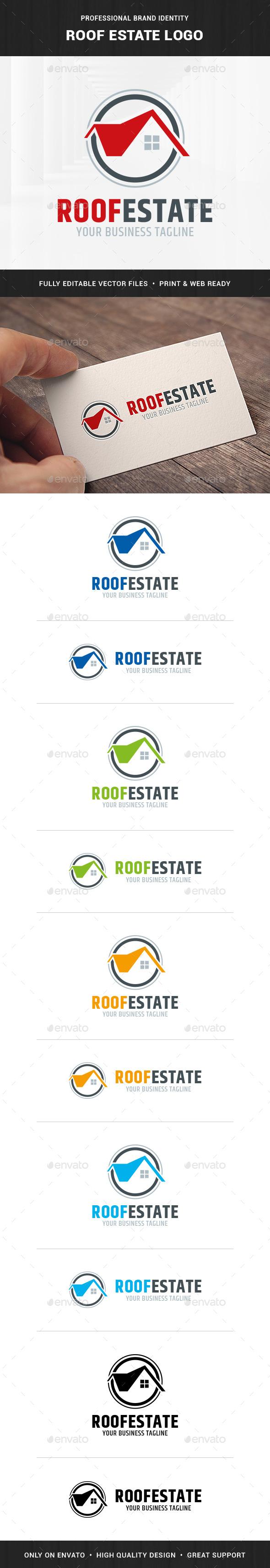 Roof Estate Logo Template - Buildings Logo Templates