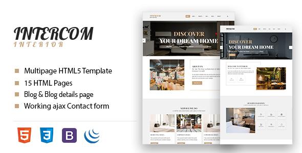 Image of Intercom - Interior HTML Template