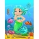 Cartoon Mermaid