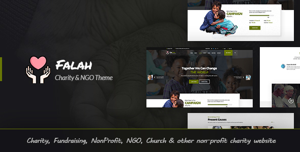 Image of Falah - Charity & NGO HTML Template