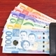 Philippine peso in the black wallet  - PhotoDune Item for Sale