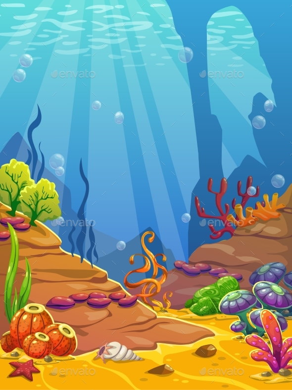 Cartoon Underwater Background - Landscapes Nature
