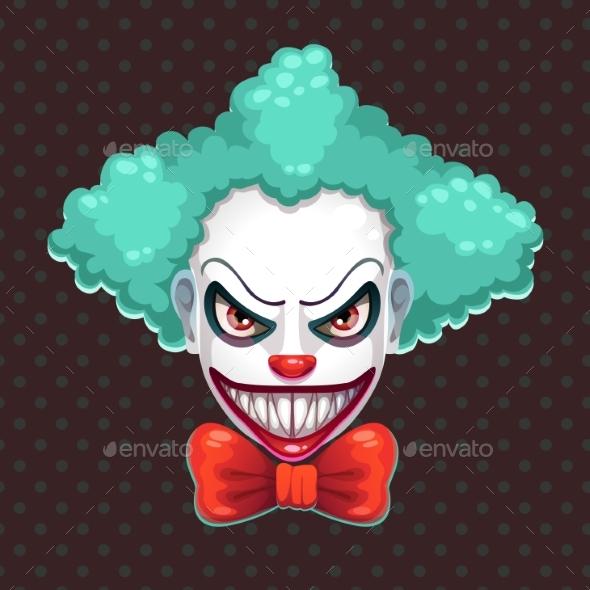Scary Clown Face - Miscellaneous Vectors