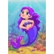 Cartoon Little Mermaid with Purple Hair - GraphicRiver Item for Sale