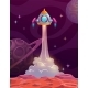 Rocket Launch From Alien Planet - GraphicRiver Item for Sale
