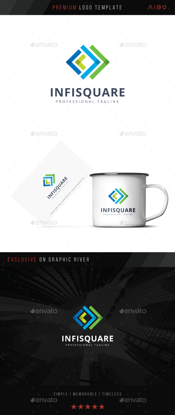 Infinite Square Logo - Abstract Logo Templates