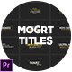 Titles Pack For Premiere Pro - VideoHive Item for Sale