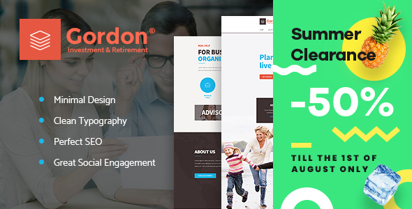 Gordon | Investments & Insurance Company WordPress Theme - Business Corporate