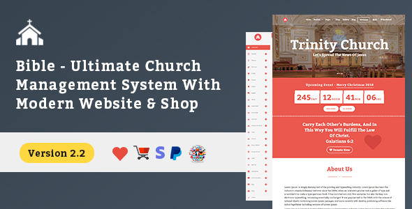 Bible - Ultimate Church Management System With Modern Website, Shop, Donation & Attendance - CodeCanyon Item for Sale