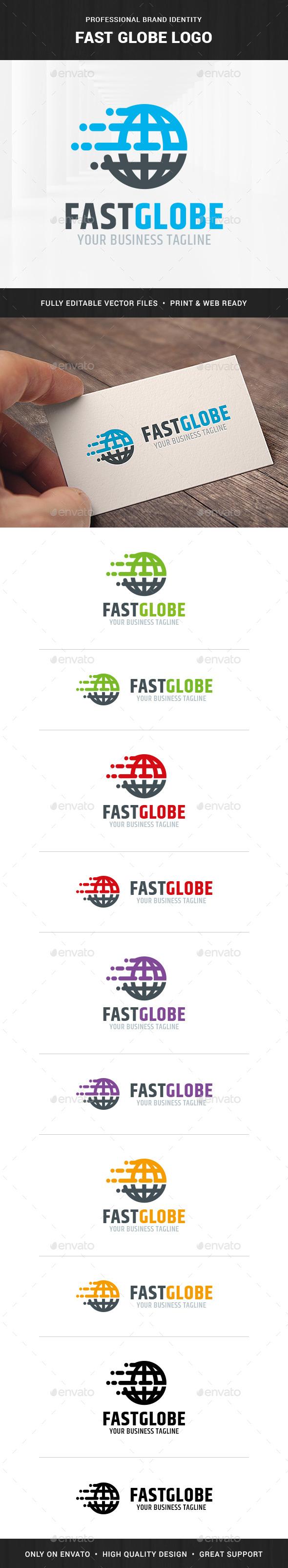 Fast Globe Logo Template - Symbols Logo Templates