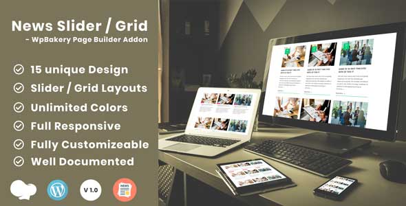 News Post Sliders News Post Grid Builder Addon - WpBakery Page Builder(Visual Composer) Wordpress - CodeCanyon Item for Sale