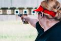 Woman on sport shooting training shooting target - PhotoDune Item for Sale