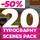20 Trendy Typography Scenes - VideoHive Item for Sale