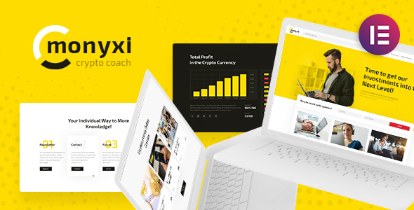 Monyxi | Cryptocurrency Trading Business Coach WordPress Theme