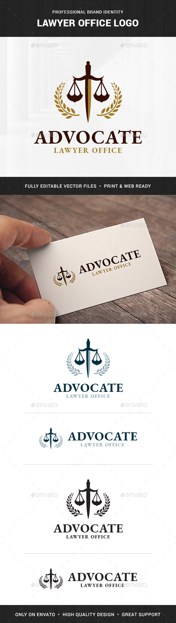 Lawyer Office Logo Template - Symbols Logo Templates