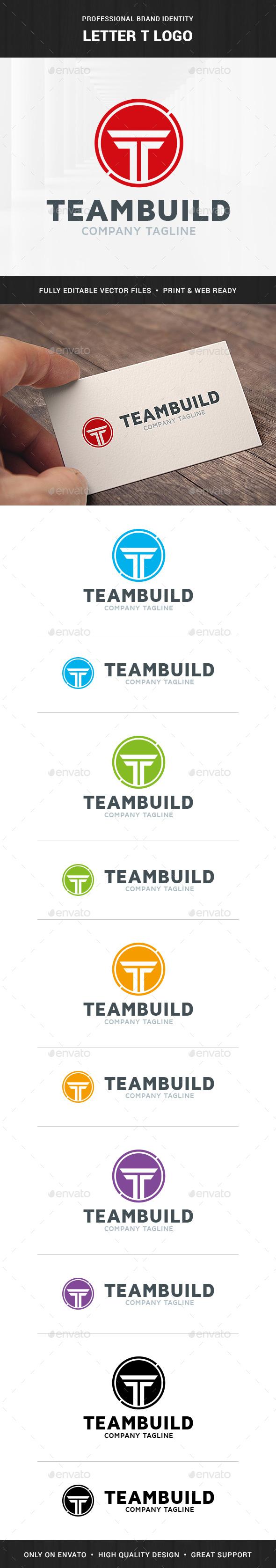 ThemeBuild - Letter T Logo - Letters Logo Templates