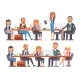 Vector Flat People Work Place Business Worker - GraphicRiver Item for Sale
