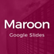 Maroon Google Slides Template - GraphicRiver Item for Sale