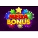 Vector Mega Bonus Banner for Lottery or Casino