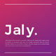 Jaly Keynote Template