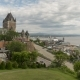 View of Quebec City Boardwalk with the Famous Chateau Frontenac Hotel - VideoHive Item for Sale