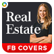 Real Estate Facebook Cover Templates - 3 Colors - GraphicRiver Item for Sale