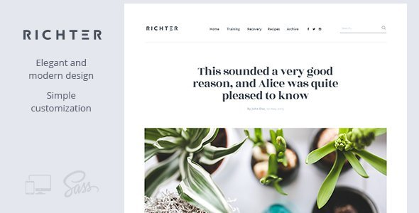 Richter – Creative WordPress Blog Theme - Blog / Magazine WordPress