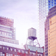 Water tank on a roof at sunset, New York. - PhotoDune Item for Sale