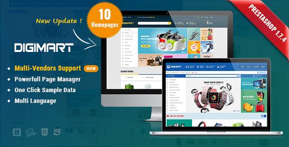 Digimart - Facilitate Responsive Marketplace PrestaShop 1.7 Theme ( Multi-Vendors support ) - Shopping PrestaShop