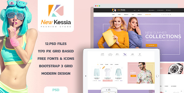New Kessia - Fashion Shop PSD Template - Creative PSD Templates