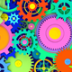 2 Colorful Cogwheels Background - VideoHive Item for Sale