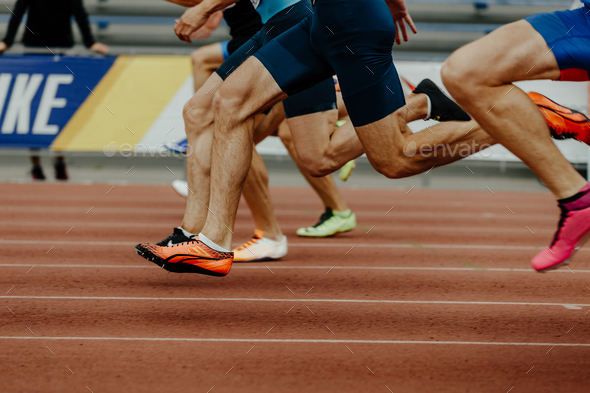 feet runners sprinters men - Stock Photo - Images