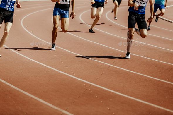 legs group runners sprinter men - Stock Photo - Images