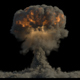 Nuclear Explosion on Black Background - VideoHive Item for Sale