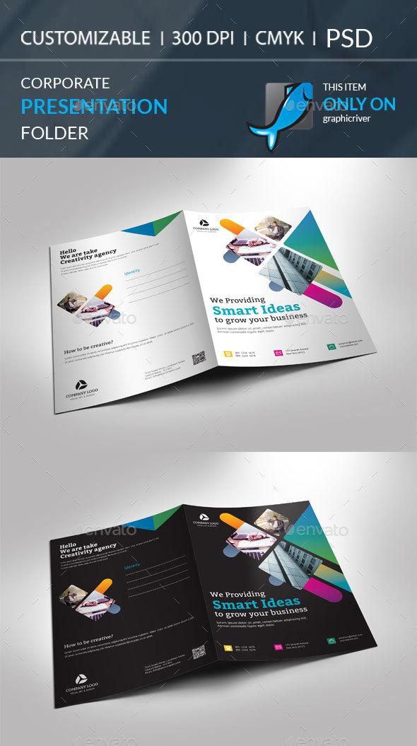 Presentation Folder - Brochures Print Templates