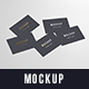 Multiple Business Cards Mockup 85x55