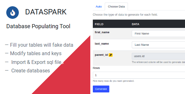 Dataspark - Database Populating Tool            Nulled