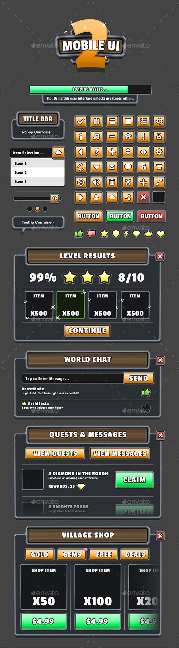 Mobile Game UI Bundle 1