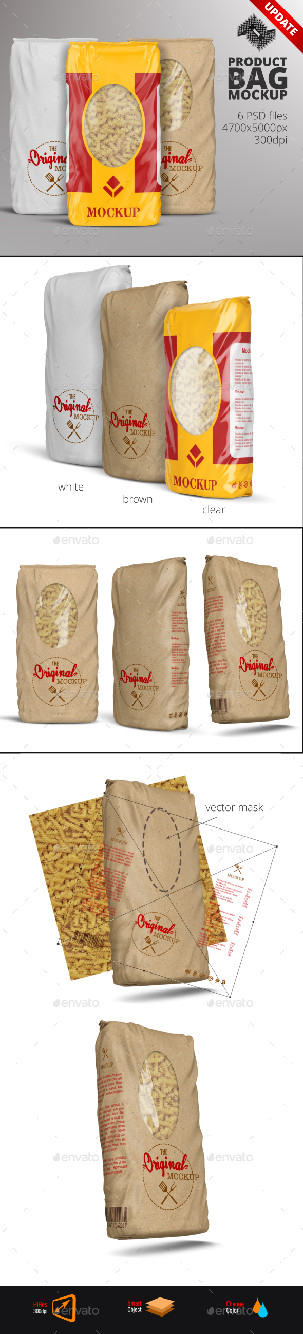 Plastic & Paper Product Bag Mockup - Food and Drink Packaging