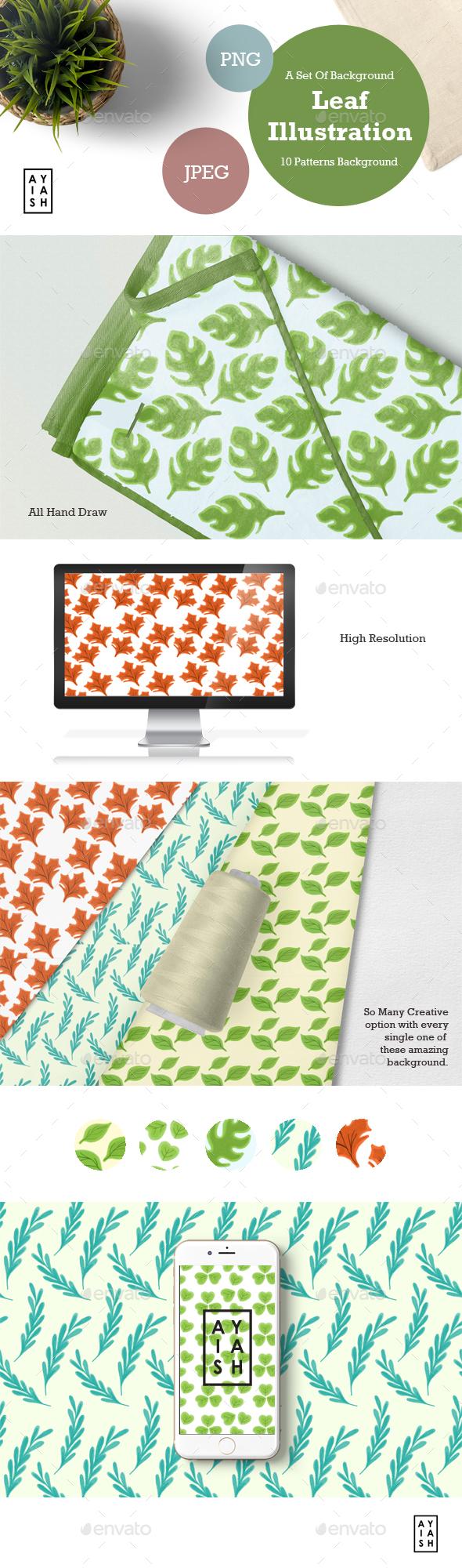 Leaf Background Illustration - Backgrounds Graphics