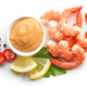 boiled prawns and salsa sauce - PhotoDune Item for Sale