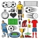 Vector Items of Football or Soccer Sport