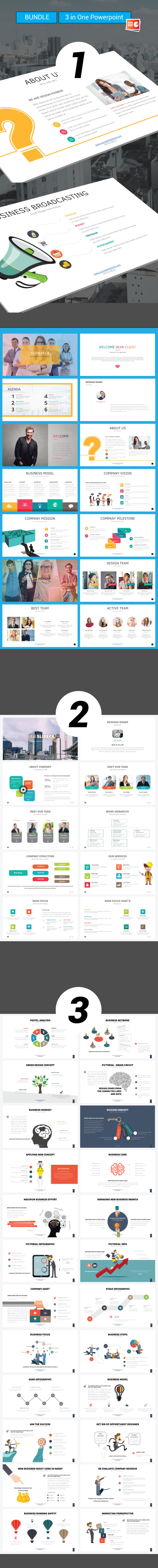 Trideck Bundle Powerpoint 3 in One - Business PowerPoint Templates