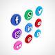 Social Media Icon Set 01 - 3DOcean Item for Sale