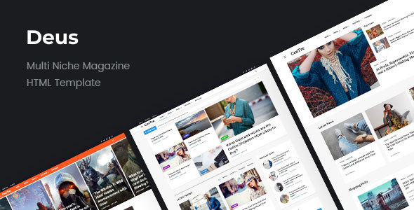 Deus | Multi-Niche Newspaper HTML Magazine