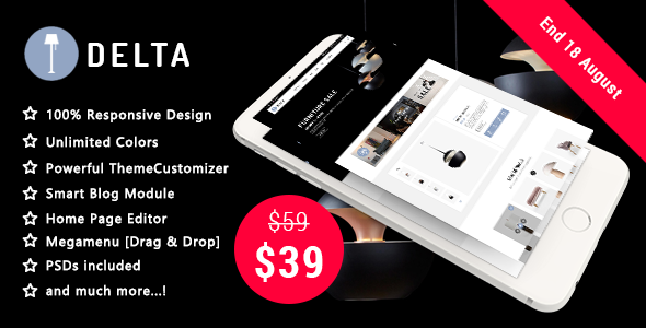 Image of Delta - Creative Furniture and Decor Responsive Prestashop 1.7 Theme