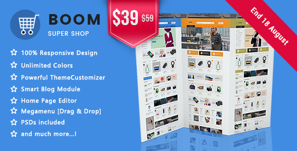 Image of Boom - Clean Super Shopping Responsive Prestashop 1.7 Theme