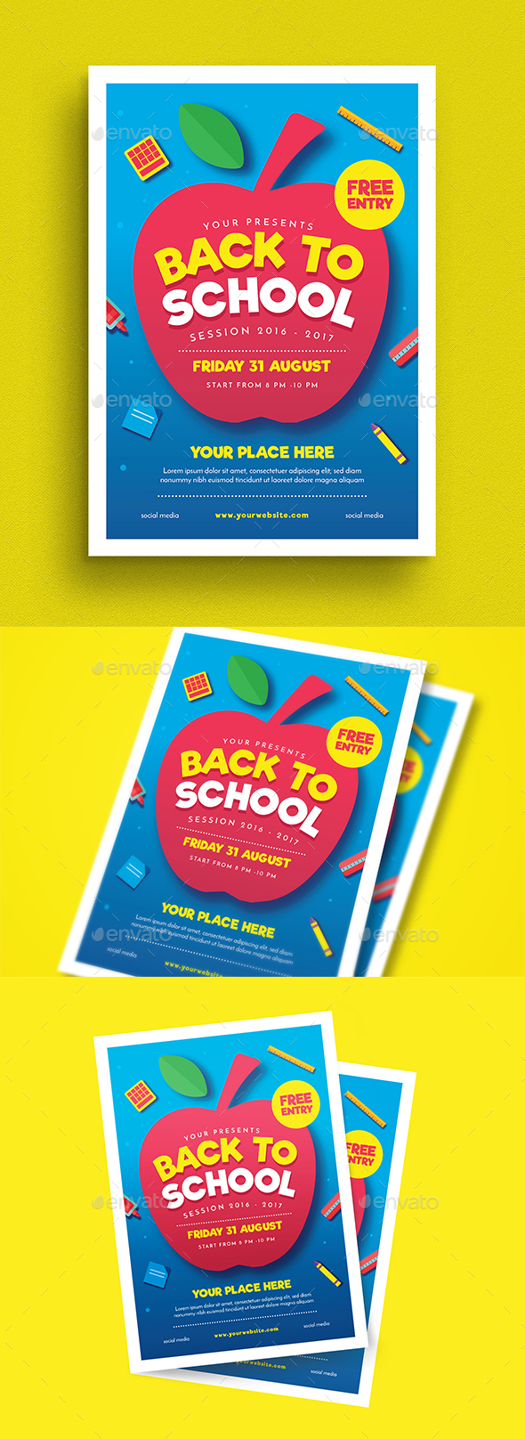 Back To School Event Flyer - Events Flyers